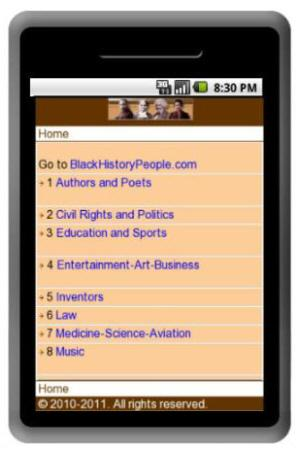 Black History People Android App